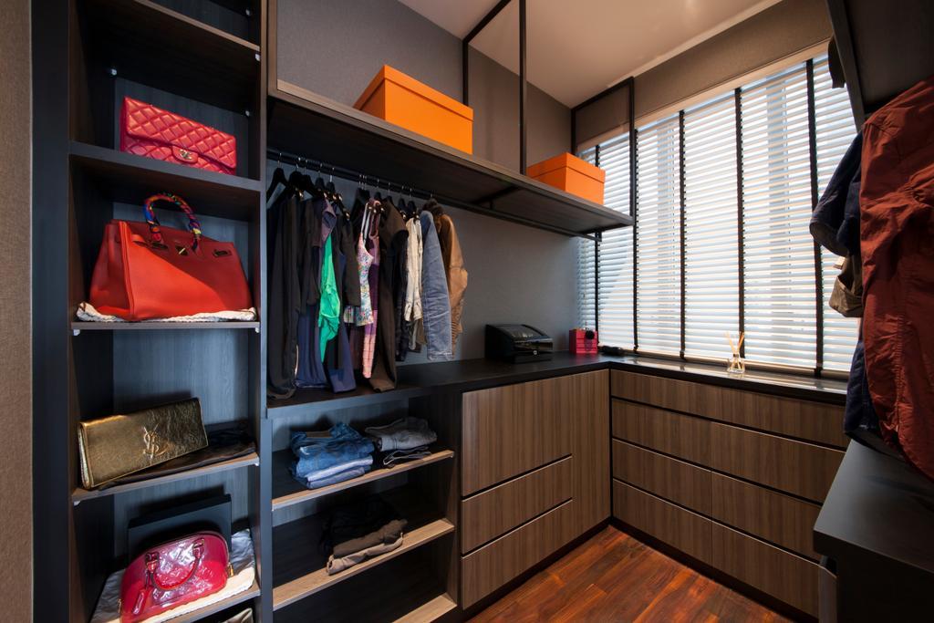Vintage, Condo, Bedroom, Jardin, Interior Designer, Hue Concept Interior Design, Traditional, Accessories, Bag, Handbag, Purse, Closet, Furniture, Wardrobe