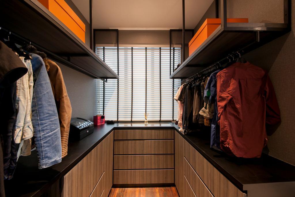 Vintage, Condo, Bedroom, Jardin, Interior Designer, Hue Concept Interior Design, Traditional, Closet, Cupboard, Furniture