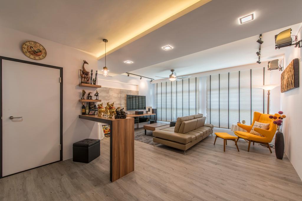 Scandinavian, HDB, Living Room, Tampines (Block 871C), Interior Designer, Arc Square