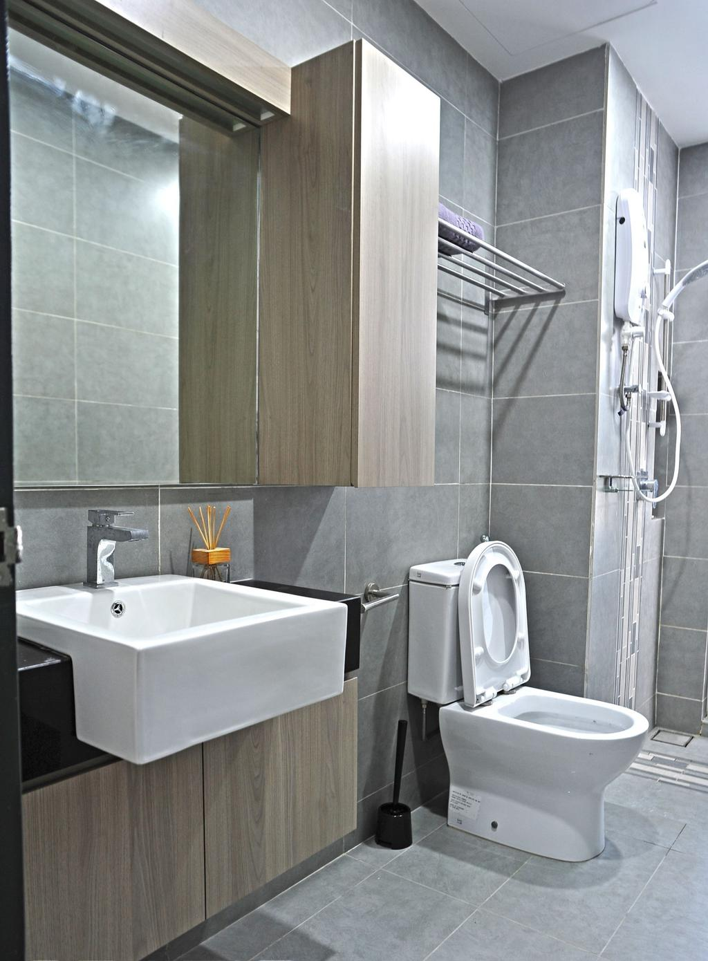 Contemporary, Condo, Bathroom, The Resident - Ampang South, Interior Designer, Spazio Design Sdn Bhd, Modern, Toilet, Indoors, Interior Design, Room, Sink