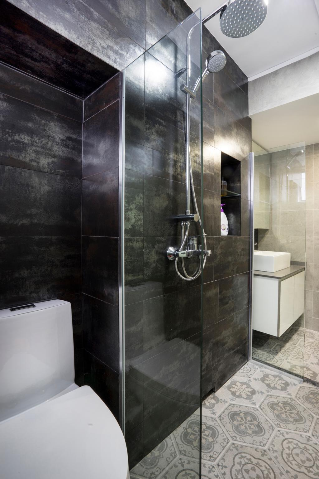 Contemporary, HDB, Bathroom, Bedok North Avenue 2, Interior Designer, Cozy Ideas Interior Design, Water Closet, Toilet Bowl, Indoors, Interior Design, Room