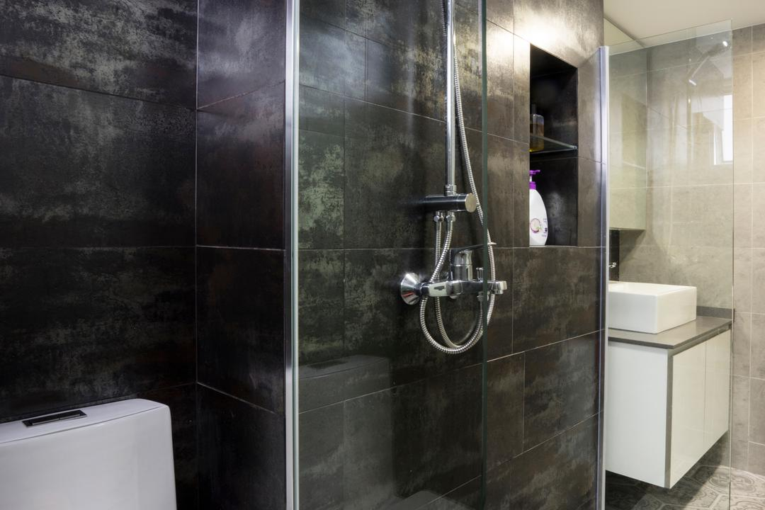 Bedok North Avenue 2, Cozy Ideas Interior Design, Contemporary, Bathroom, HDB, Water Closet, Toilet Bowl, Indoors, Interior Design, Room