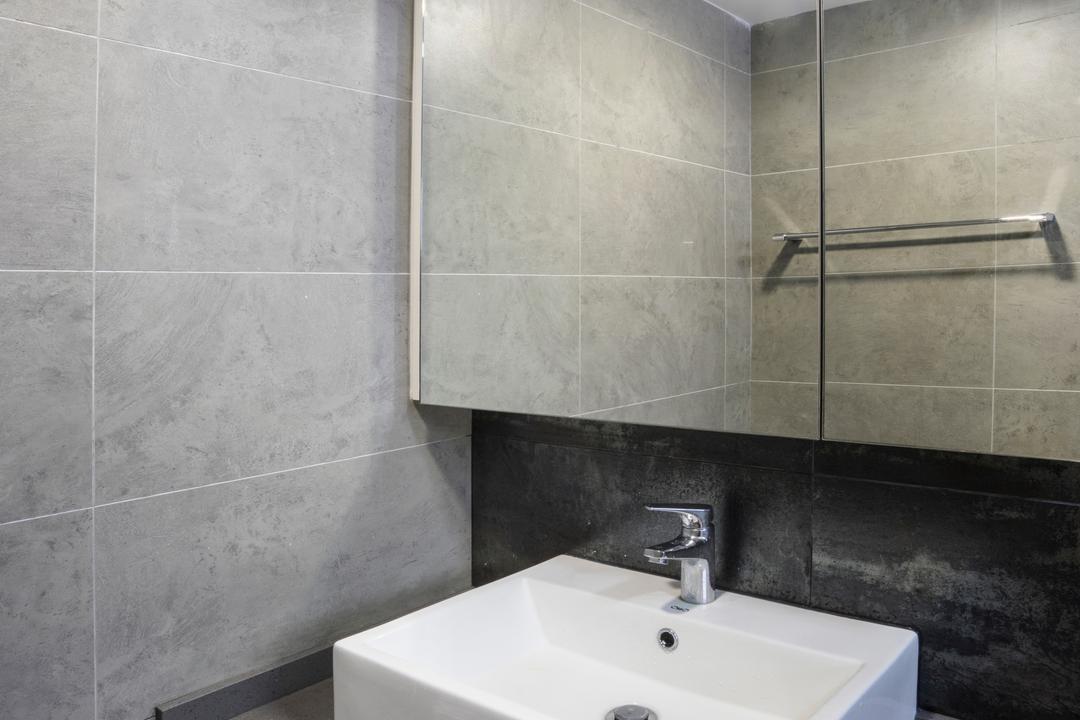 Bedok North Avenue 2, Cozy Ideas Interior Design, Contemporary, Bathroom, HDB, Bathroom Cabinet, Vessel Sink, Basin, Indoors, Interior Design, Room