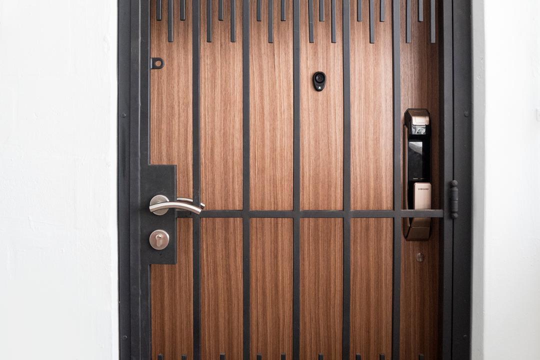 Bedok North Avenue 2, Cozy Ideas Interior Design, Contemporary, HDB, Door, Door Grille, Folding Door