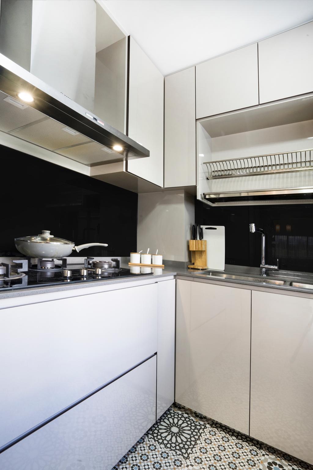 Contemporary, HDB, Kitchen, Bedok North Avenue 2, Interior Designer, Cozy Ideas Interior Design