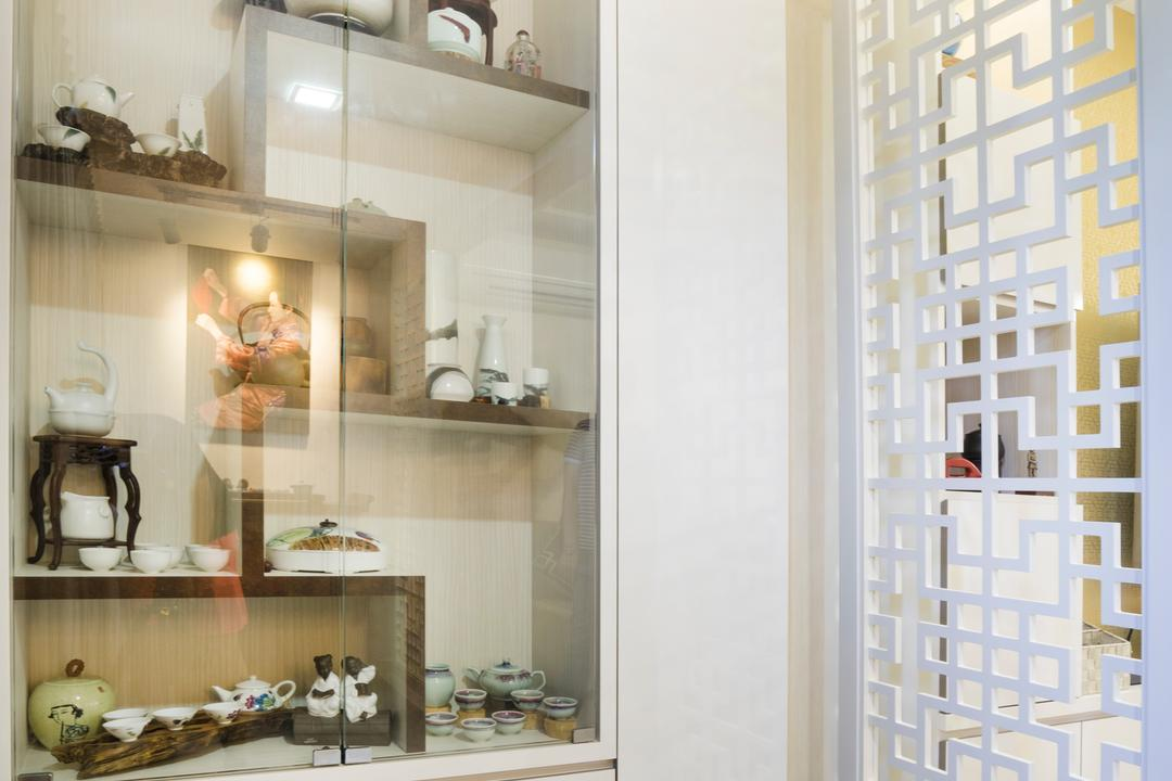 Bedok North Avenue 2, Cozy Ideas Interior Design, Contemporary, Living Room, HDB, Display Cabinet, Display Shelf, Home Decor, Indoors, Interior Design