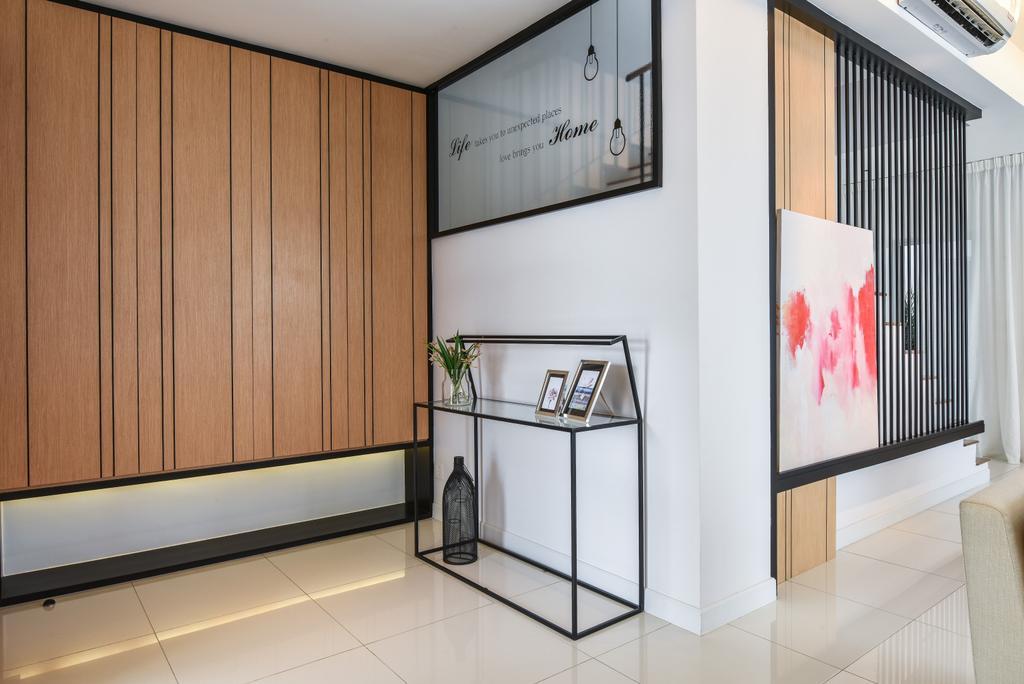 Modern, Landed, Living Room, Kajang, Interior Designer, SQFT Space Design Management
