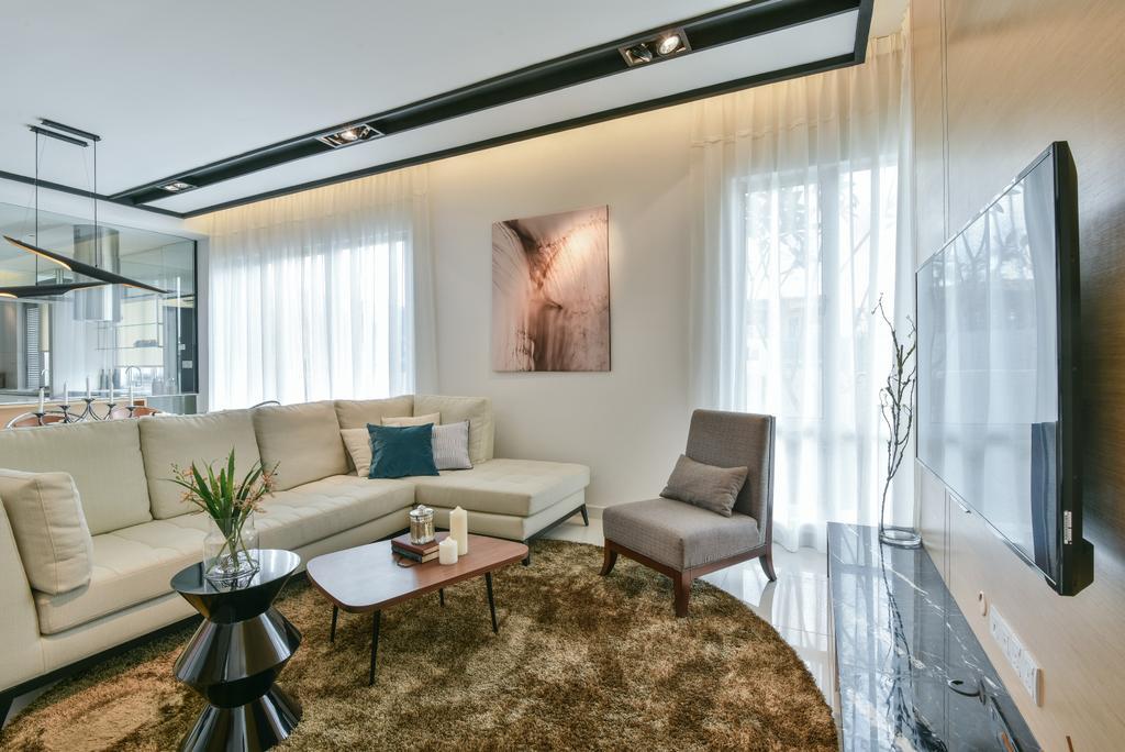 Modern, Landed, Kajang, Interior Designer, SQFT Space Design Management, Couch, Furniture, Indoors, Interior Design, Room