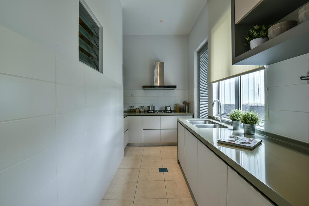 Modern, Landed, Kitchen, Kajang, Interior Designer, SQFT Space Design Management