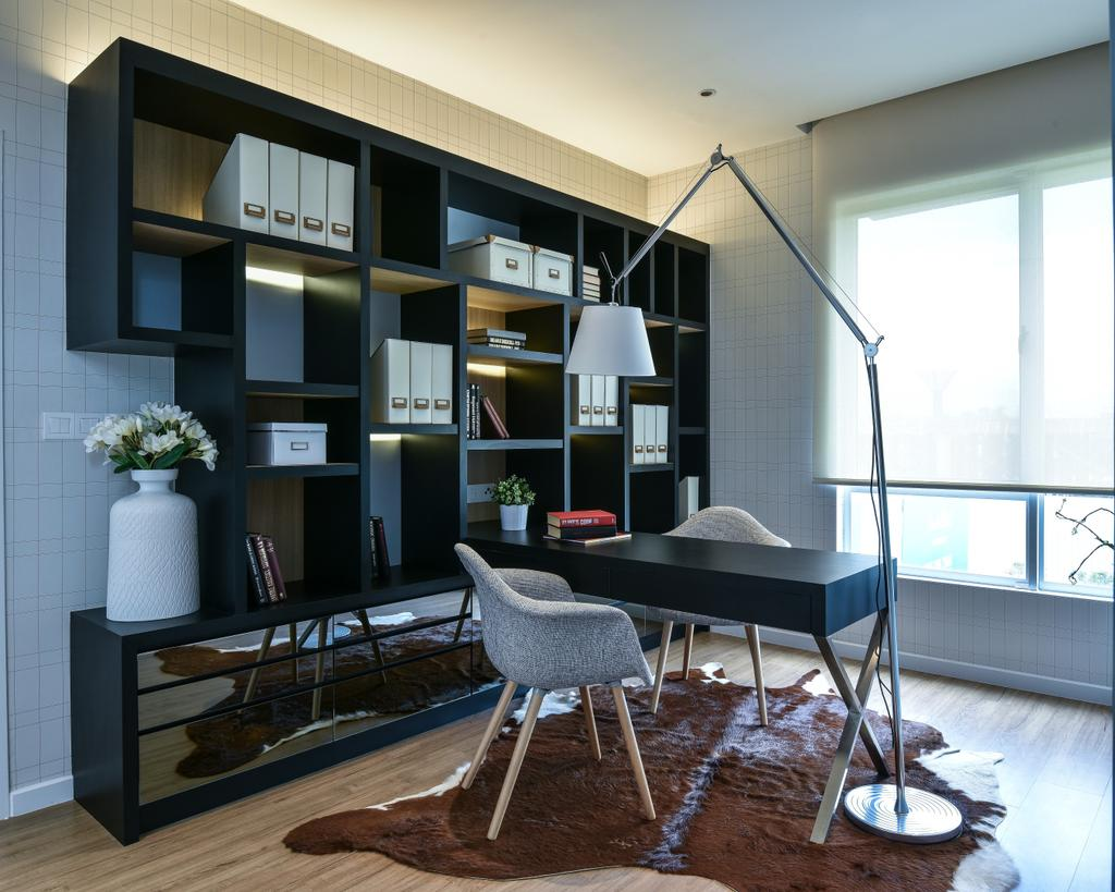 Modern, Landed, Study, Kajang, Interior Designer, SQFT Space Design Management, Chair, Furniture, Dining Room, Indoors, Interior Design, Room, Dining Table, Table