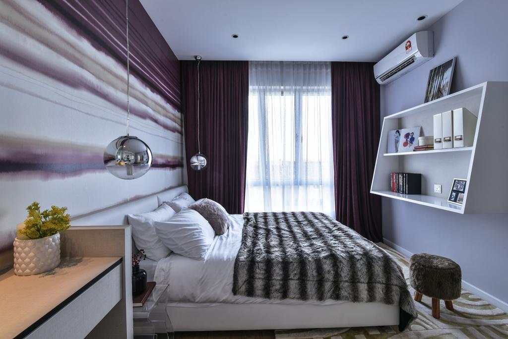 Modern, Landed, Bedroom, Kajang, Interior Designer, SQFT Space Design Management, Shelf, Indoors, Interior Design, Room