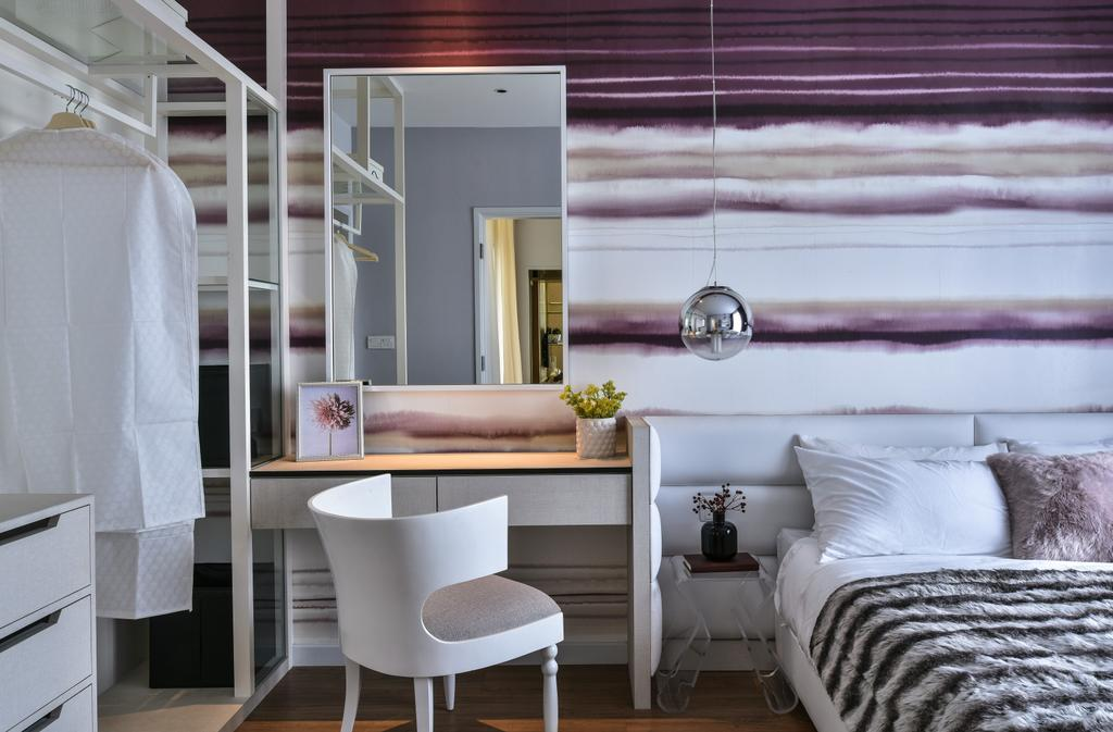 Modern, Landed, Bedroom, Kajang, Interior Designer, SQFT Space Design Management, Chair, Furniture, Indoors, Interior Design, Room, Bathroom