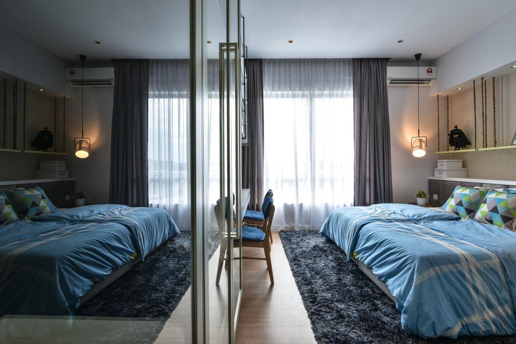 Modern, Landed, Bedroom, Kajang, Interior Designer, SQFT Space Design Management, Bed, Furniture, Indoors, Interior Design, Room, Building, Hostel, Housing