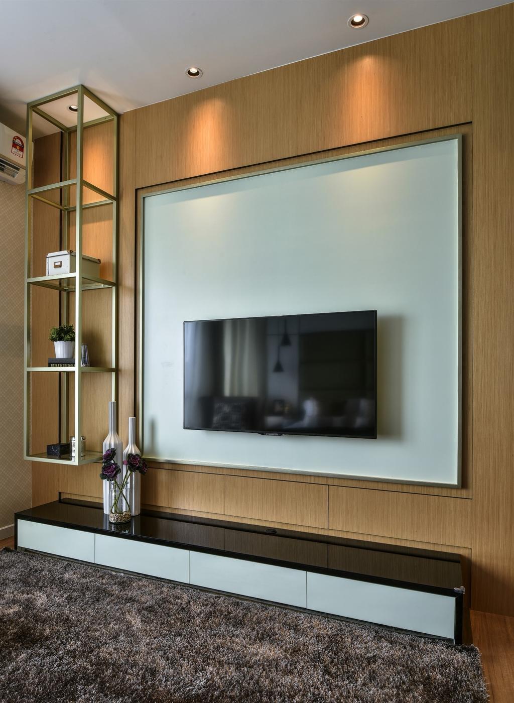 Modern, Landed, Living Room, Kajang, Interior Designer, SQFT Space Design Management, Shelf