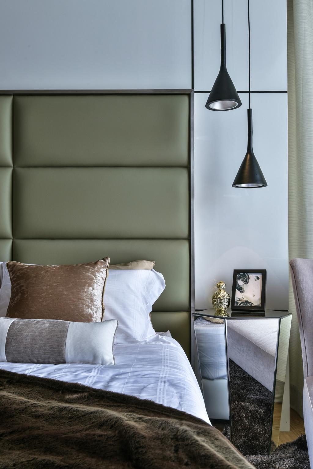 Modern, Landed, Bedroom, Kajang, Interior Designer, SQFT Space Design Management, Cushion, Home Decor, Pillow, Cutlery, Spoon