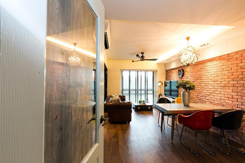 Industrial, HDB, Dining Room, SkyVille @ Dawson, Interior Designer, Thom Signature Design, Vintage