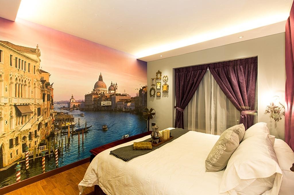 Industrial, HDB, Bedroom, SkyVille @ Dawson, Interior Designer, Thom Signature Design, Vintage, Wallpaper, Wall Decal, Cove Lightings, Big Bed, Bed Runner, Bedrunner