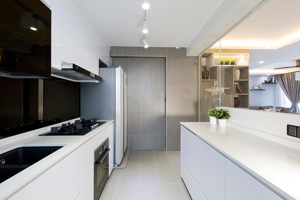 Modern, HDB, Kitchen, Edgefield Plains (Block 668A), Interior Designer, Thom Signature Design