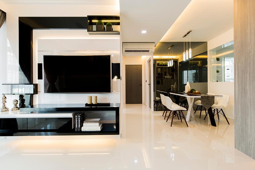 Modern, HDB, Living Room, Edgefield Plains (Block 668A), Interior Designer, Thom Signature Design