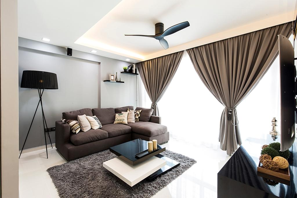 Modern, HDB, Living Room, Edgefield Plains (Block 668A), Interior Designer, Thom Signature Design
