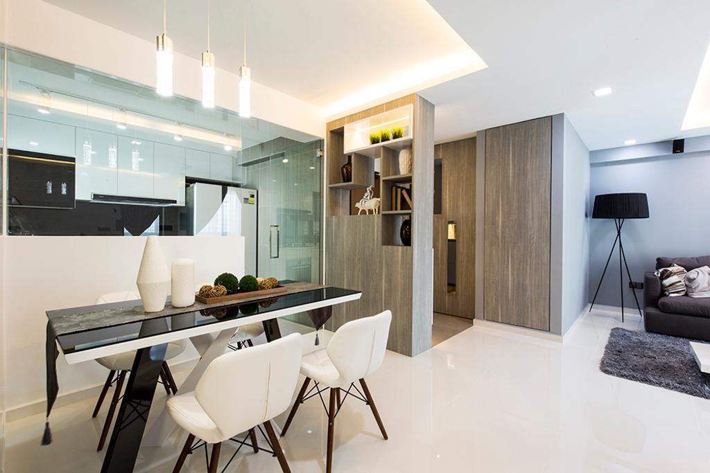 Modern, HDB, Dining Room, Edgefield Plains (Block 668A), Interior Designer, Thom Signature Design