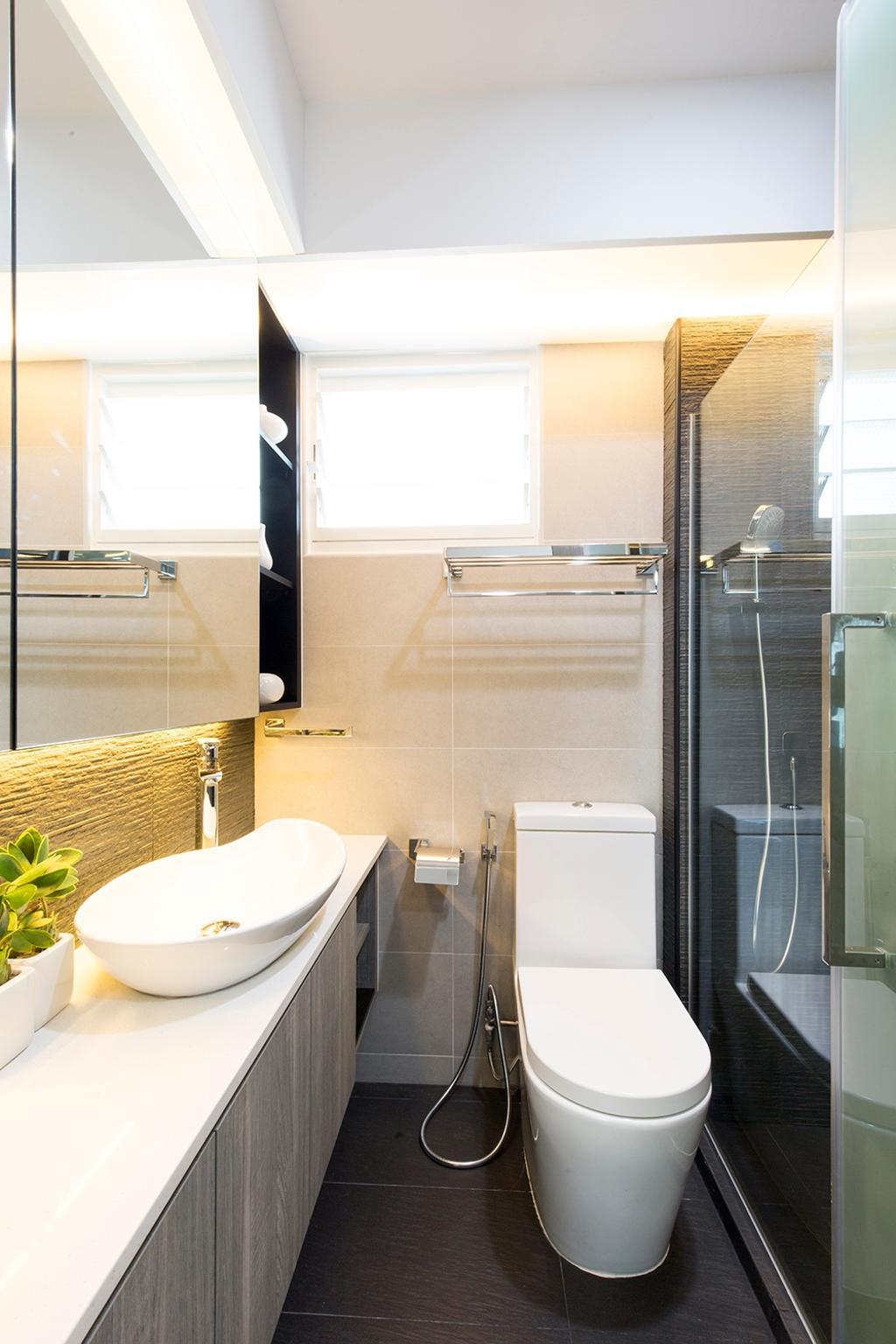 Modern, HDB, Bathroom, Edgefield Plains (Block 668A), Interior Designer, Thom Signature Design