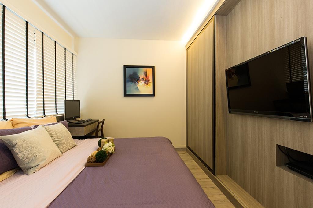 Industrial, HDB, Bedroom, Simei Street (Block 226), Interior Designer, Thom Signature Design, Modern