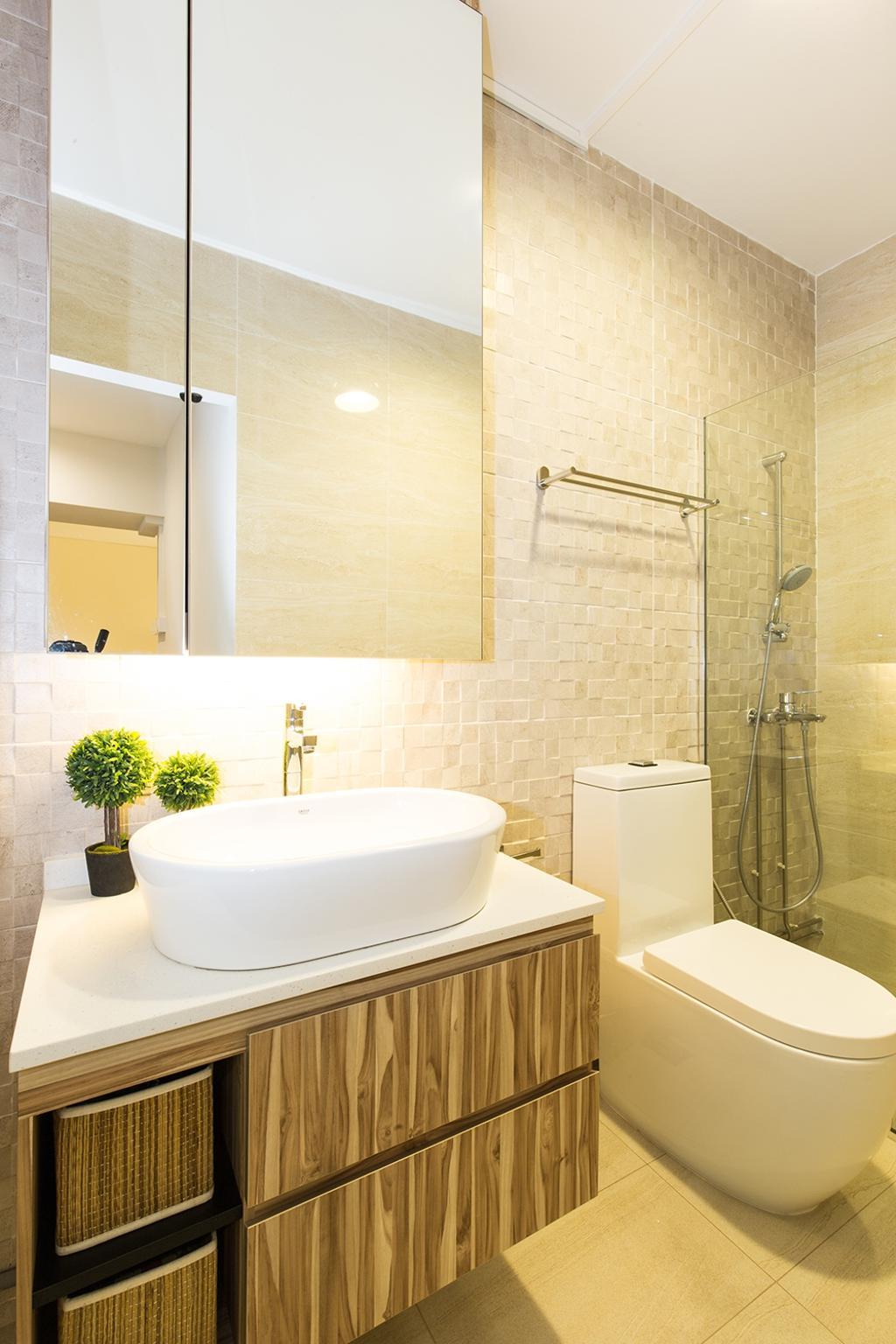 Industrial, HDB, Bathroom, Simei Street (Block 226), Interior Designer, Thom Signature Design, Modern
