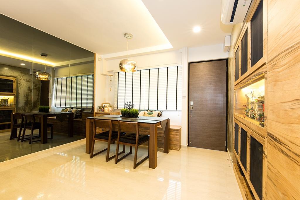 Industrial, HDB, Dining Room, Simei Street (Block 226), Interior Designer, Thom Signature Design, Modern