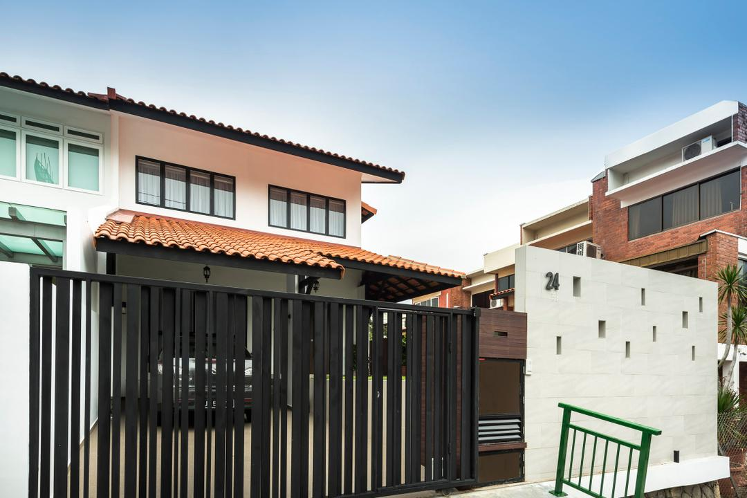 24 Labu Ayer, Prozfile Design, Modern, Landed, Exterior, Front, Porch, Entrance, Gate, Banister, Handrail