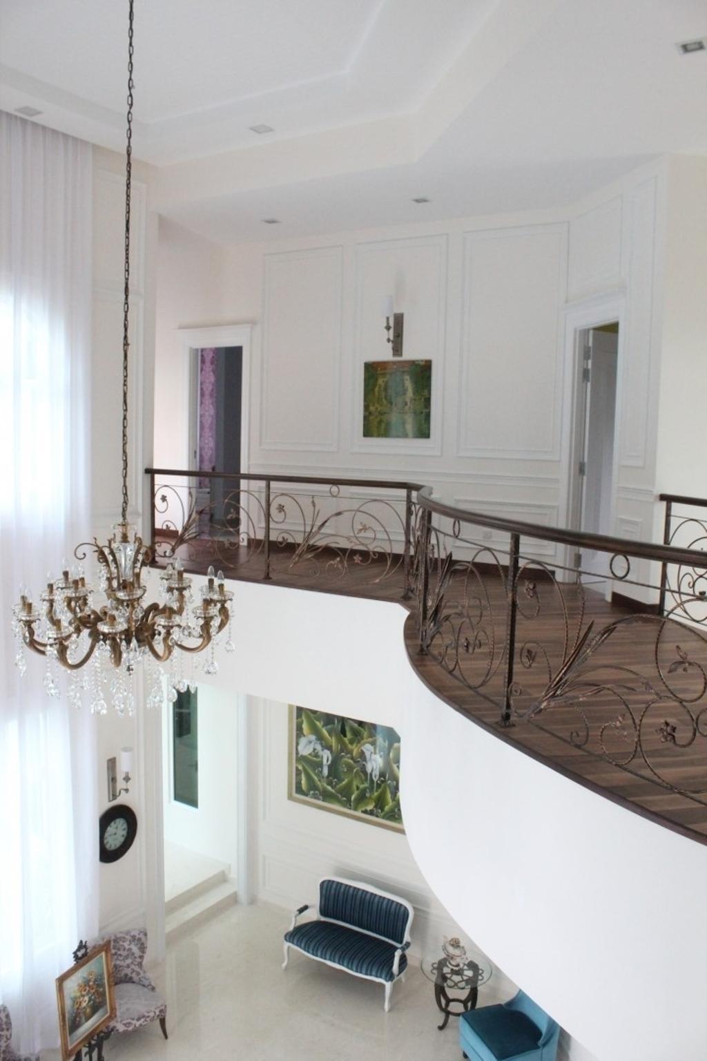 Vintage, Landed, Balcony, Saujana Impian Kajang, Interior Designer, Klaasmen Sdn. Bhd., Dining Room, Indoors, Interior Design, Room, Banister, Handrail, Staircase