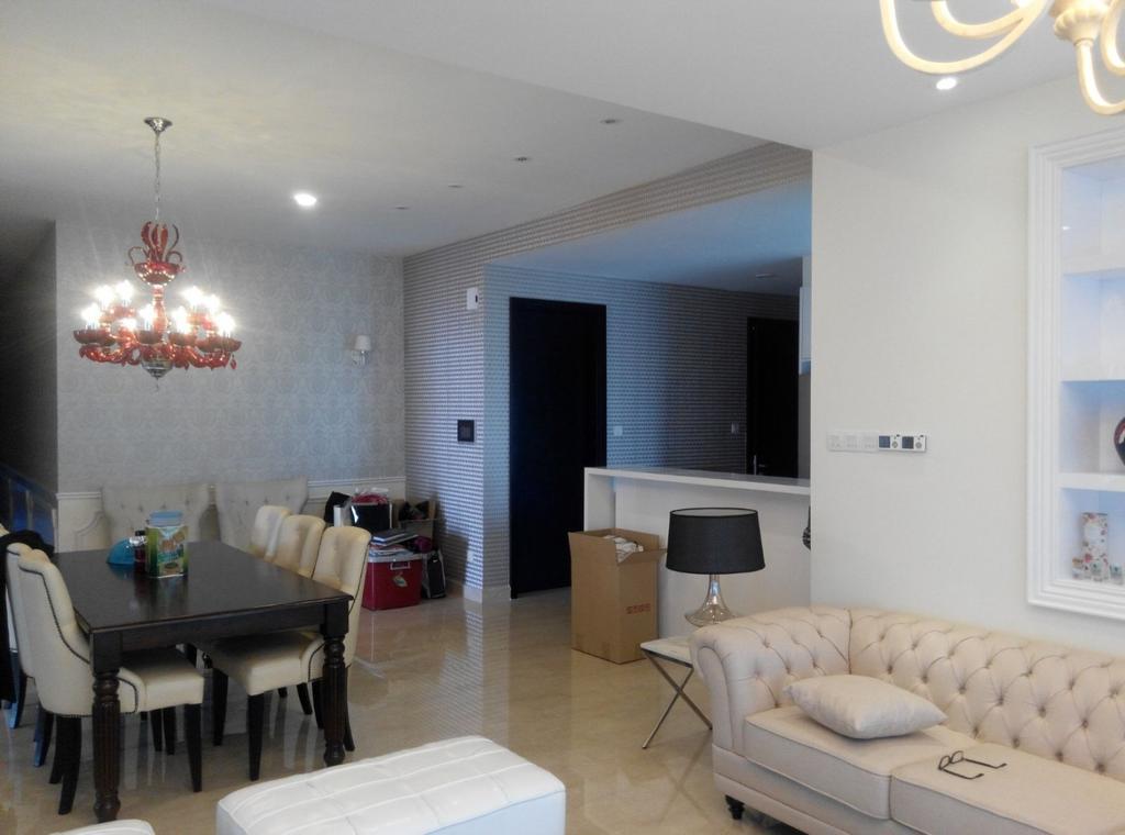 Vintage, Condo, Living Room, Mont Kiara 11, Interior Designer, Klaasmen Sdn. Bhd., Couch, Furniture, Lamp, Table Lamp, Dining Room, Indoors, Interior Design, Room