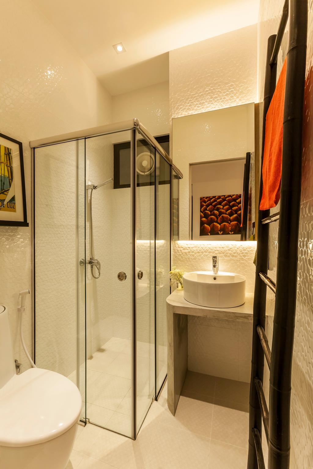 Modern, Condo, Bathroom, Beacon Heights, Interior Designer, Rhiss Interior, Shower Screen, Down Light, Cove Lights, Indoors, Interior Design, Room