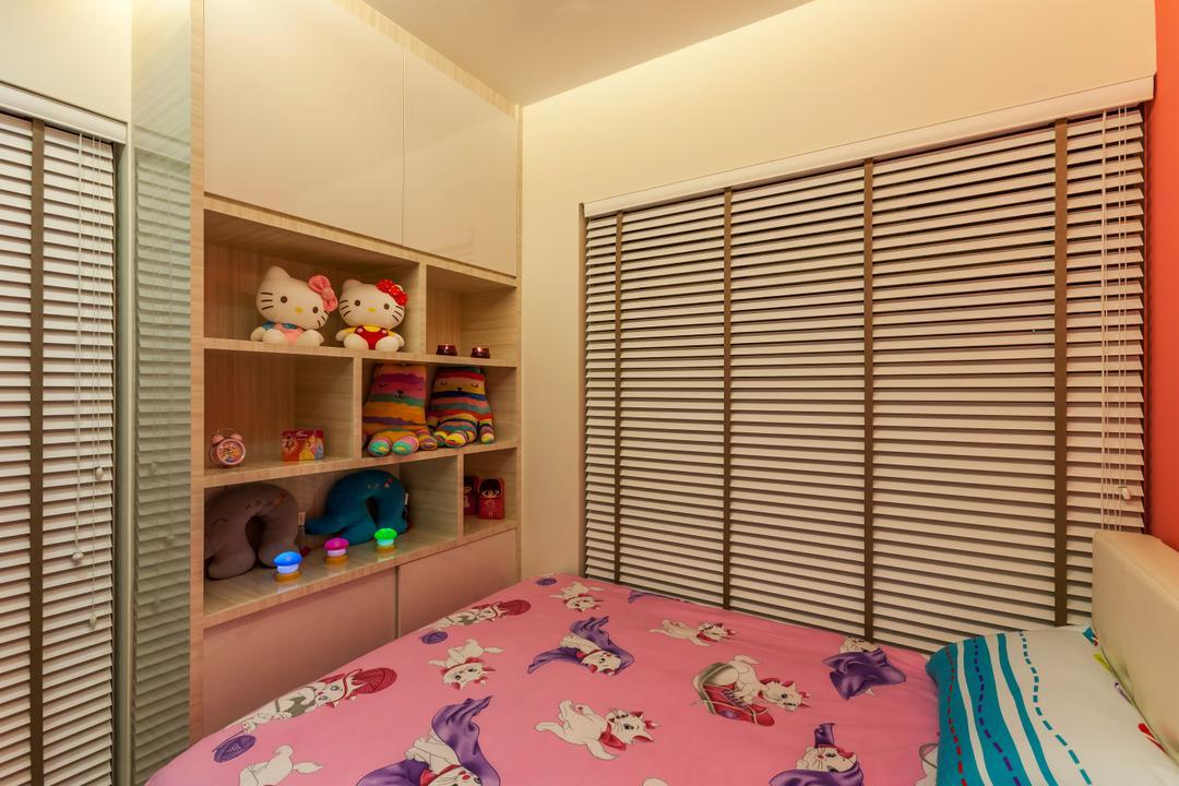 H2O Residences, Rhiss Interior, Traditional, Bedroom, Condo, Venetian Blinds, Chirldren Room, Kids Room, Cove Lights, Shelving, Indoors, Interior Design, Room