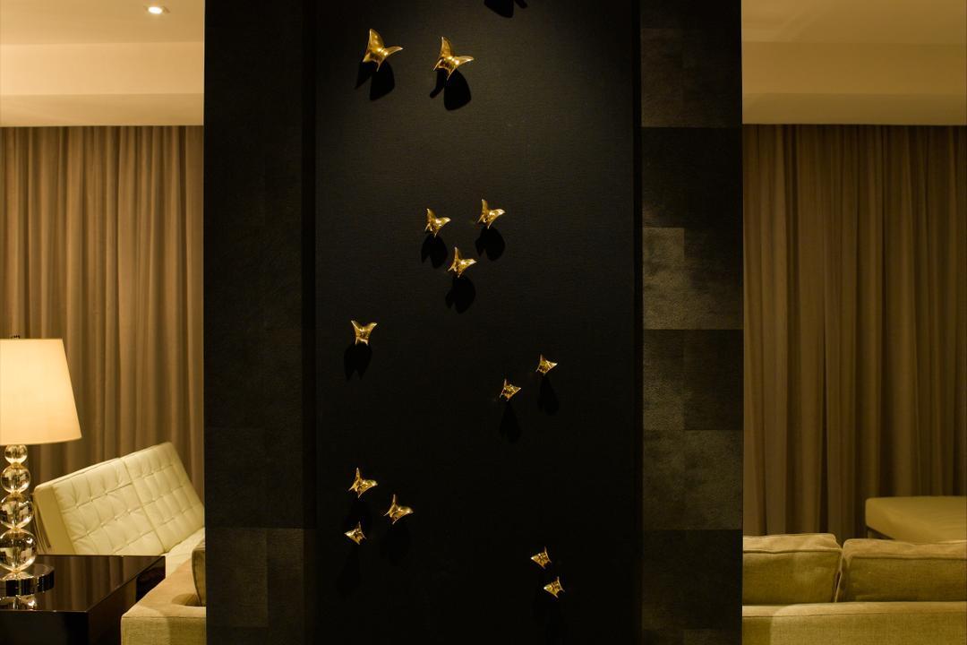 UE Square, Rhiss Interior, Modern, Condo, Couch, Furniture, Animal, Bat, Mammal, Wildlife, Lamp, Lampshade, Indoors, Interior Design