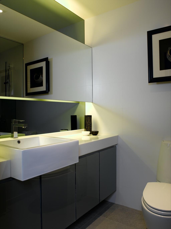 Modern, Condo, Bathroom, UE Square, Interior Designer, Rhiss Interior, Monochrome, Indoors, Interior Design, Room