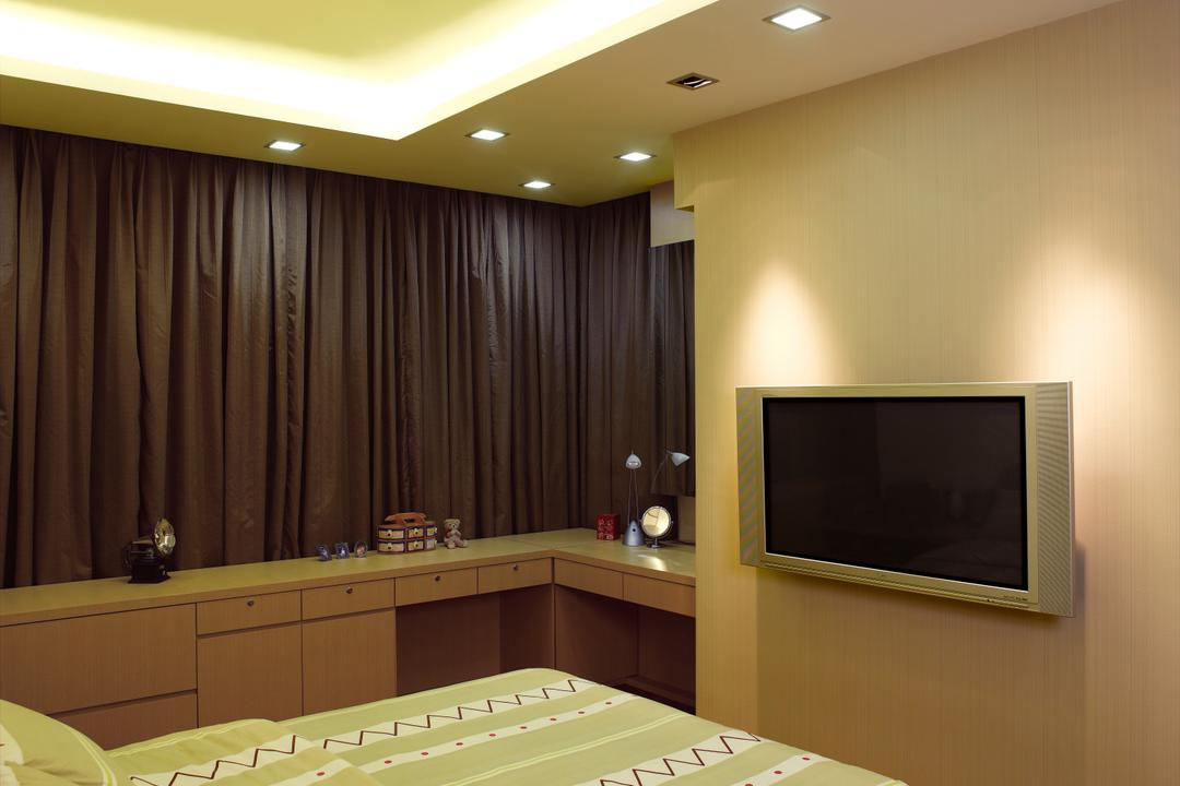 Dalla Vale, Rhiss Interior, Contemporary, Bedroom, Landed, Cove Lights, Down Lights, Electronics, Entertainment Center, Home Theater, Sink, Monitor, Screen, Tv, Television