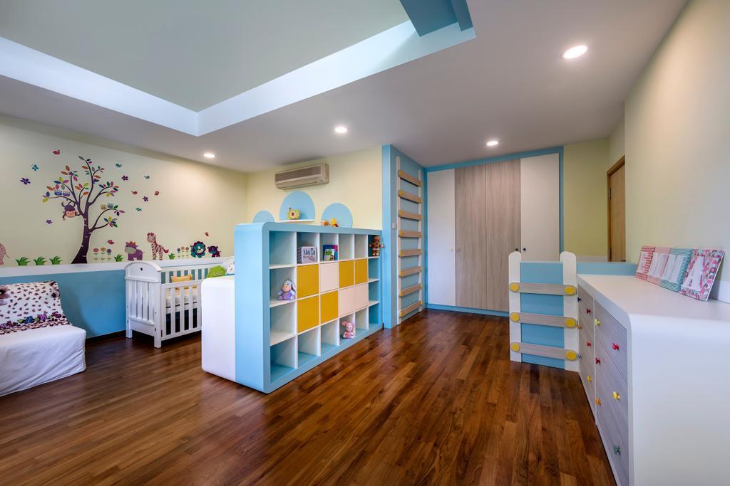Ash Grove, Commercial, Interior Designer, Space Factor, Modern, Bedroom, Kids Room, Kids, Baby, Babys Room, Indoors, Nursery, Room, Floor, Flooring, Hardwood, Wood