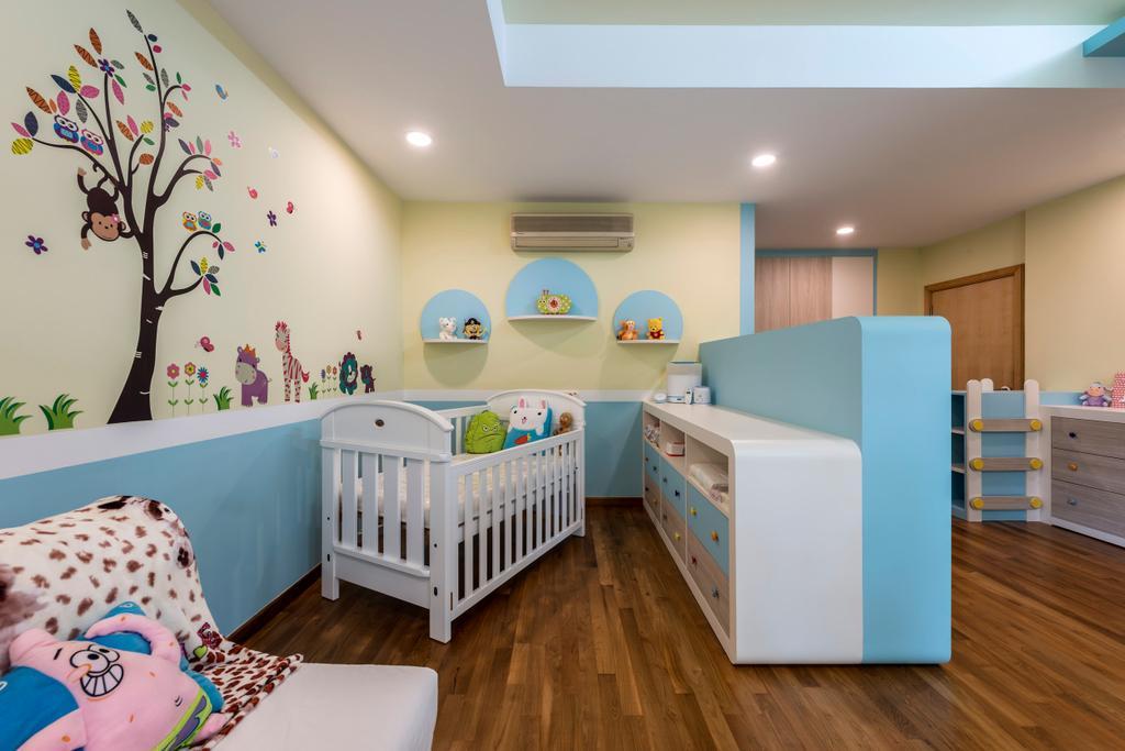 Ash Grove, Commercial, Interior Designer, Space Factor, Modern, Bedroom, Kids Room, Kids, Baby, Babys Room, Indoors, Nursery, Room, Crib, Furniture, Bed