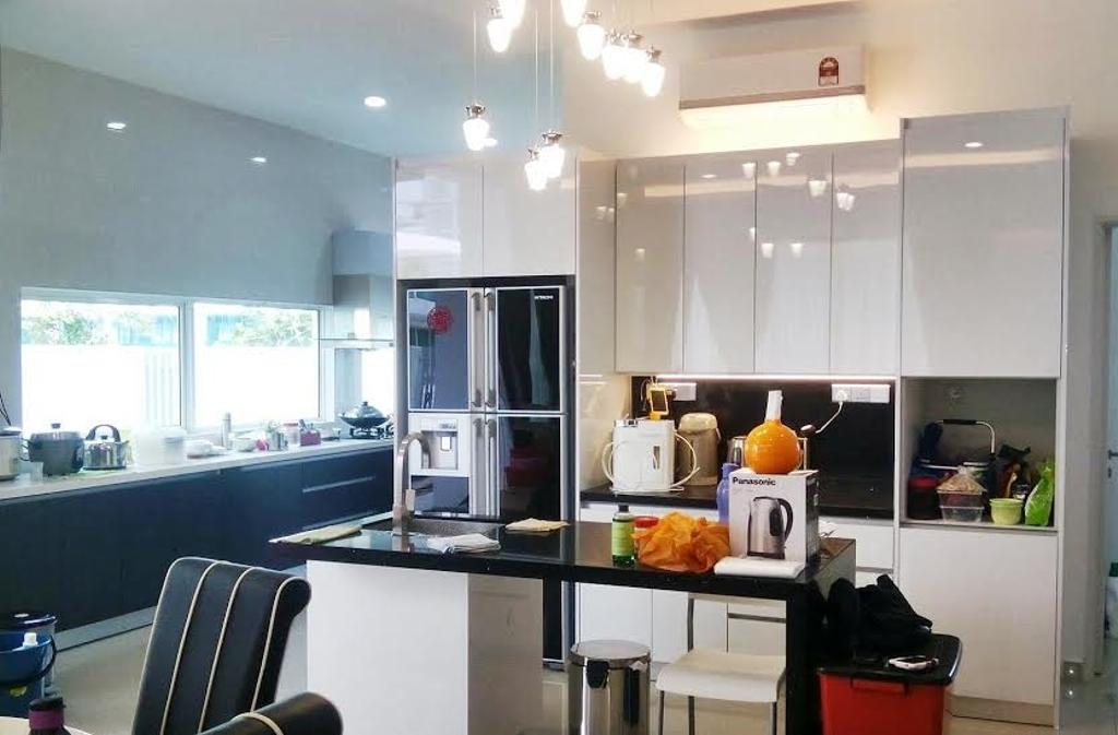 Modern, Landed, Kitchen, Bandar Parkland, Interior Designer, Lora Kitchen Design