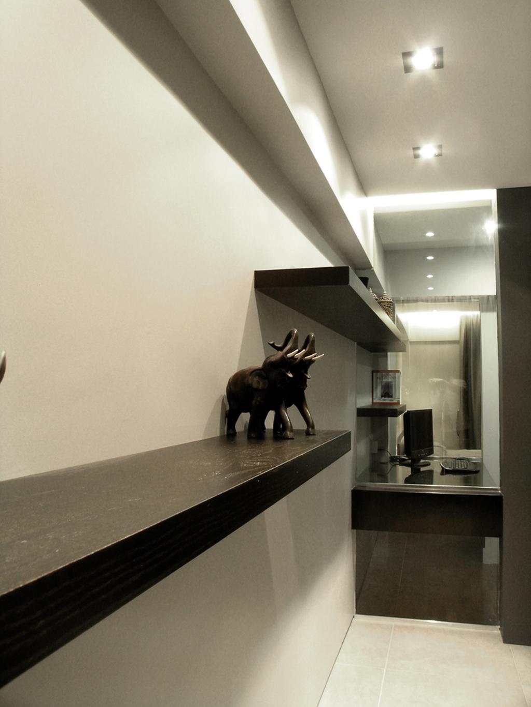 Modern, HDB, Living Room, Ang Mo Kio, Interior Designer, Metamorph Design, Wood Laminate, Display Shelf