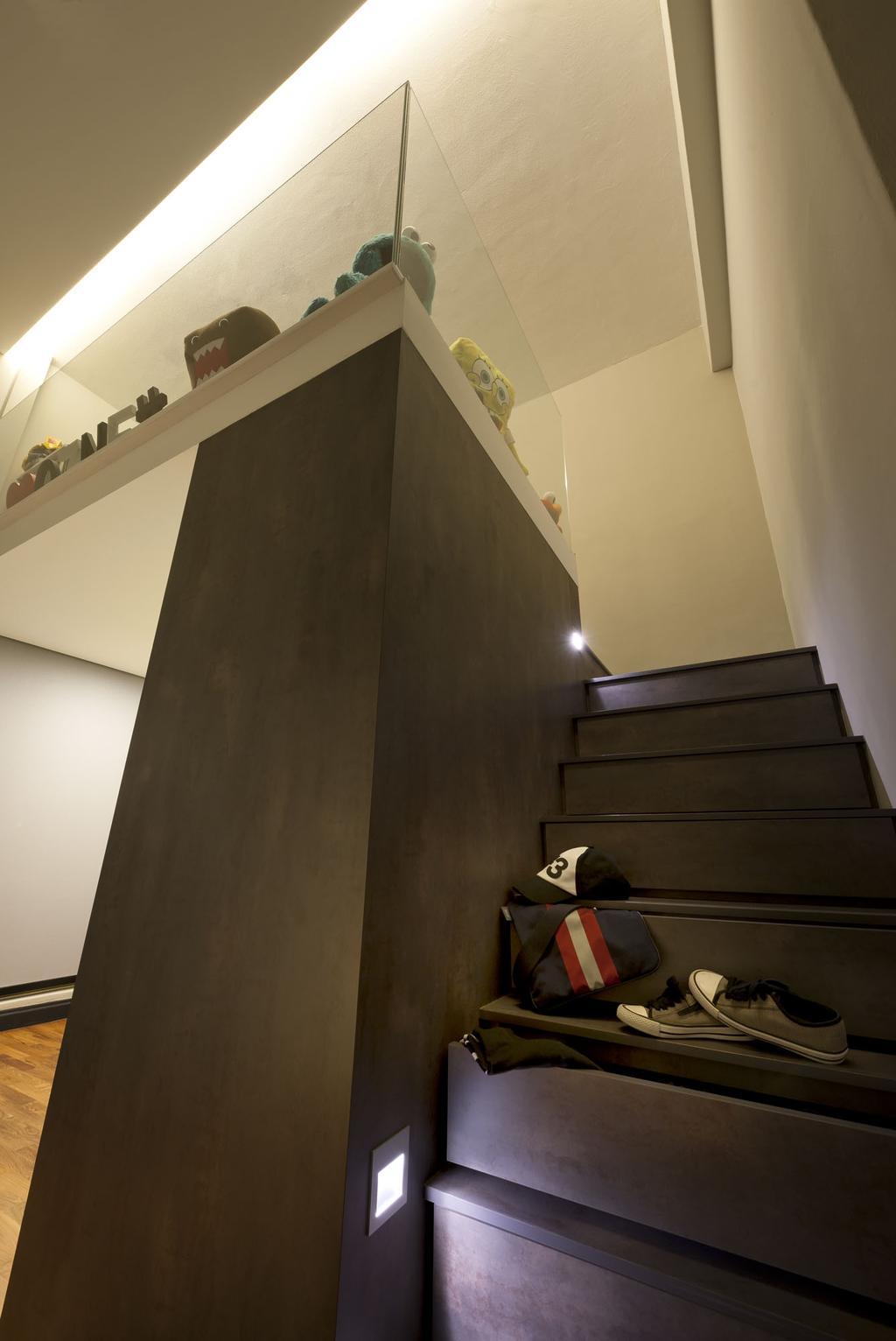 Modern, Condo, Kentish Green, Interior Designer, Rhiss Interior, Banister, Handrail, Staircase