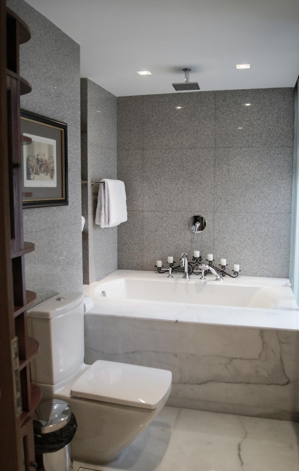 Transitional, Condo, Bathroom, The Levelz, Interior Designer, Metamorph Design, Marble Flooring, Bathroom Tiles, Towel, Indoors, Interior Design, Room, Sink