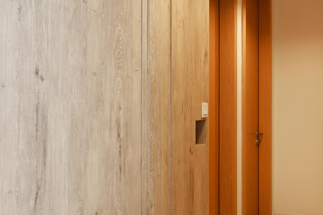 Austville Residences, The Scientist, Contemporary, Condo, Black Track Lights, Wood Cabinet, Marble Floor