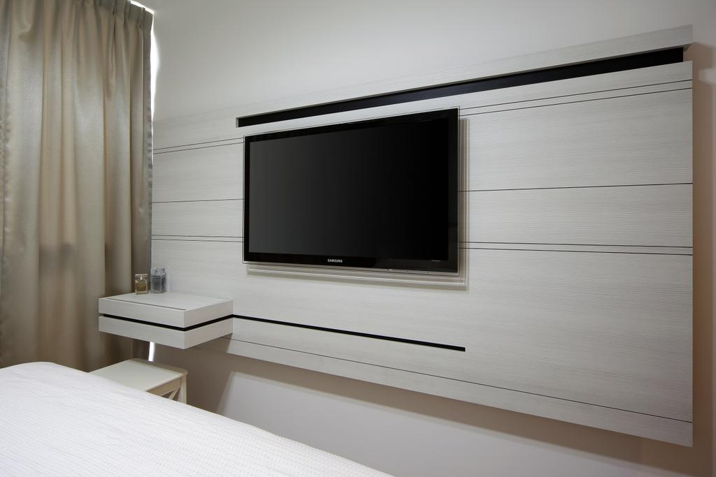 Contemporary, Condo, Bedroom, Austville Residences, Interior Designer, The Scientist, Wood Feature Wall, Electronics, Entertainment Center