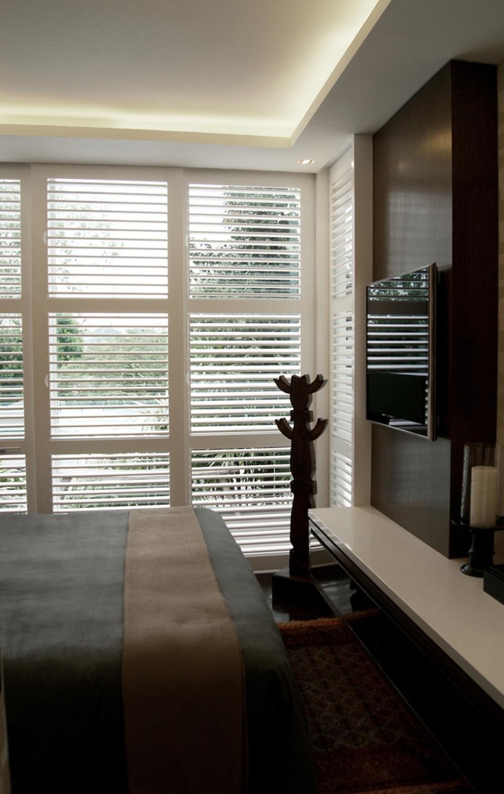 Transitional, Condo, Bedroom, The Levelz, Interior Designer, Metamorph Design, Venetian Blinds, Cove Light, Concealed Lighting, Concealed Light