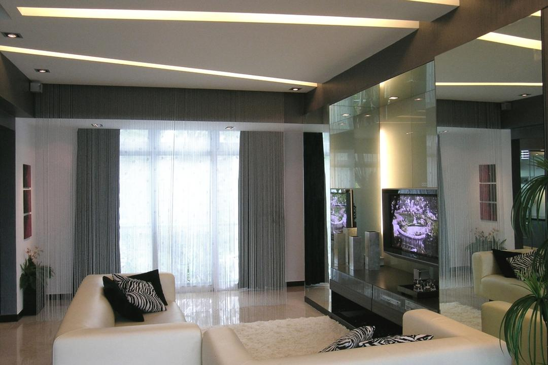 Palm Green, Metamorph Design, Modern, Living Room, Condo, Ceiling, Design, Lighting, Couch, Furniture, Indoors, Interior Design