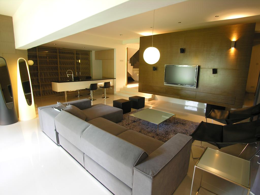 Modern, Landed, Living Room, 1A Stevens Drive, Architect, Lim Ai Tiong (LATO) Architects, Bathroom, Indoors, Interior Design, Room, Sink, Furniture