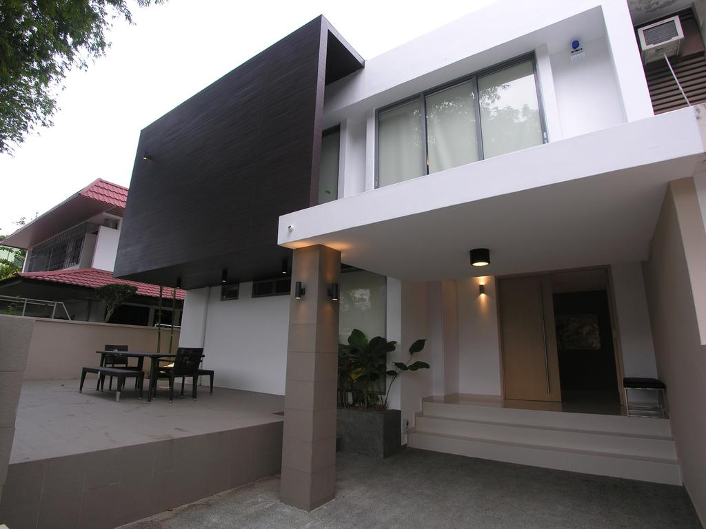 Modern, Landed, 1A Stevens Drive, Architect, Lim Ai Tiong (LATO) Architects, Flora, Jar, Plant, Potted Plant, Pottery, Vase, Building, House, Housing, Villa, Bench, Dining Table, Furniture, Table