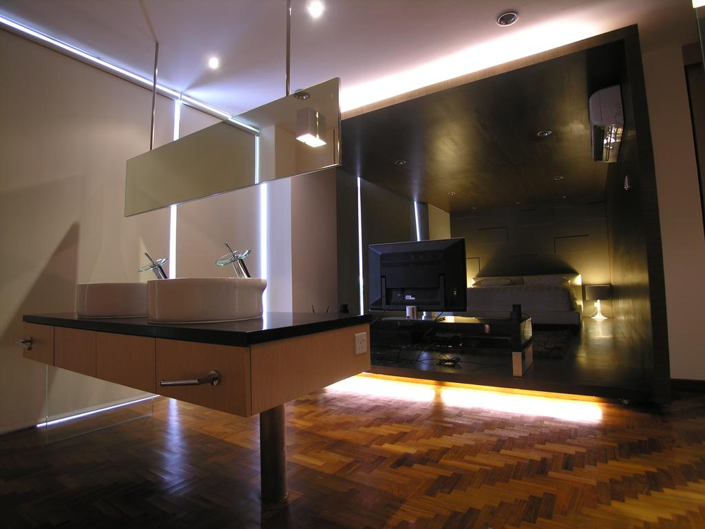 Modern, Landed, Study, 1A Stevens Drive, Architect, Lim Ai Tiong (LATO) Architects, HDB, Building, Housing, Indoors, Loft, Appliance, Electrical Device, Oven